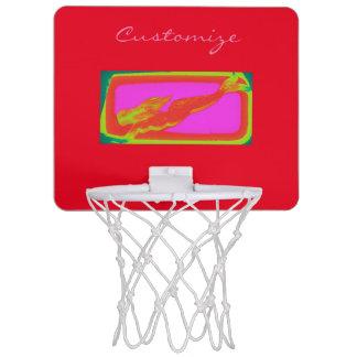 röd sjöjungfrusimning Mini-Basketkorg