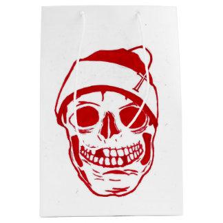 Röd skalle i den Santa hatten