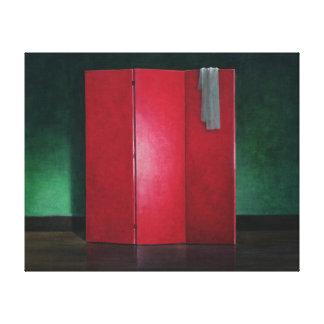 Röd skärm 1990 canvastryck