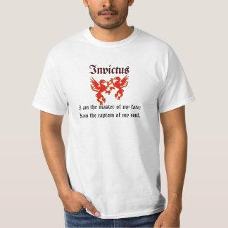 Röd skjorta för drakeInvictus utslagsplats Tee Shirt
