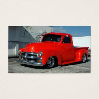 Röd skräddarsy pickup lastbil visitkort