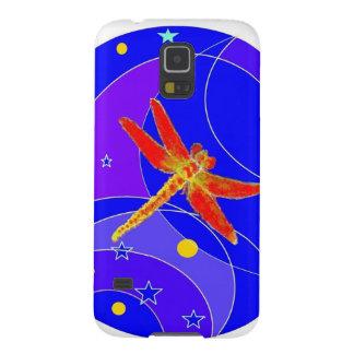 Röd slända som är celestials vid Sharles Galaxy S5 Fodral
