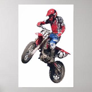 Röd smutscykel poster