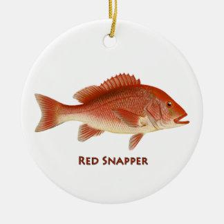 Röd Snapperprydnad Julgransprydnad Keramik