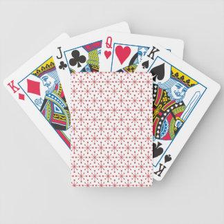 Röd snöflingor spelkort