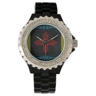 Röd sol för Hopi Armbandsur