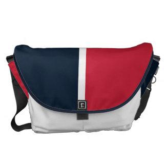 Röd Southwest och blått Messenger Bag