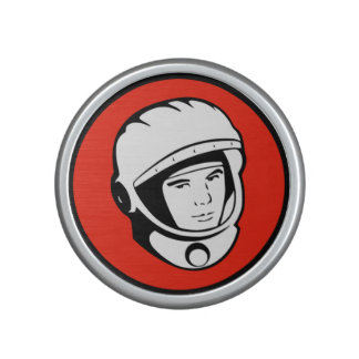 Röd sovjetisk kosmonautBumpster högtalare