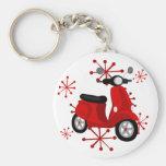 Röd sparkcykel nyckelringar
