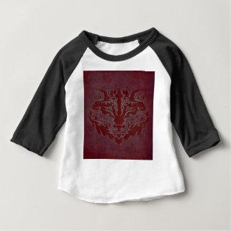 Röd stam- varg tee shirts