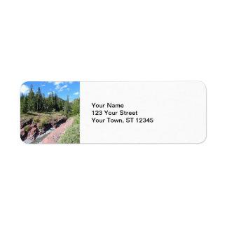 Röd stenKanjonWaterton nationalpark för sjöar Returadress Etikett