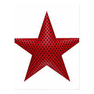 Röd stjärna 3D Vykort