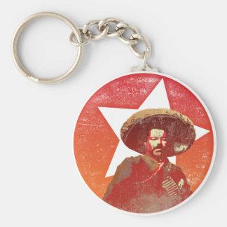 Röd stjärna för Pancho villavintage Rund Nyckelring