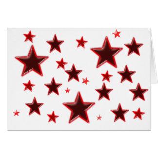 Röd stjärna hälsningskort
