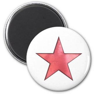 röd stjärna magnet rund 5.7 cm