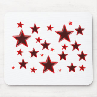 Röd stjärna mus mattor