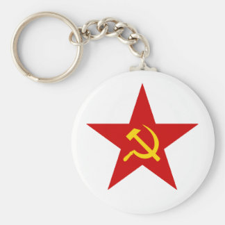 Röd stjärna nyckel ring