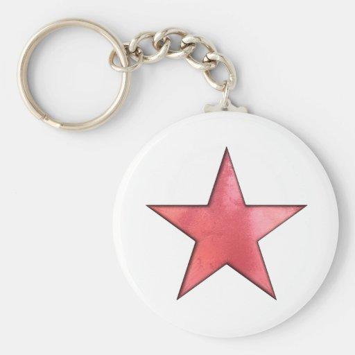 röd stjärna nyckelringar