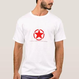 Röd stjärna tee shirt