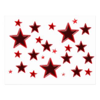 Röd stjärna vykort