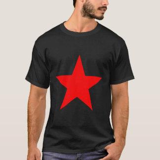 Röd stjärnadesign t shirt