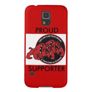 (Röd) stolt supporter Lewis & Clark för unga Galaxy S5 Fodral