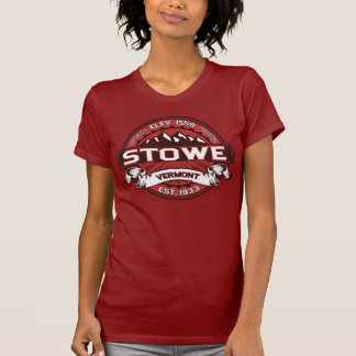 Röd Stowe logotyp T-shirt