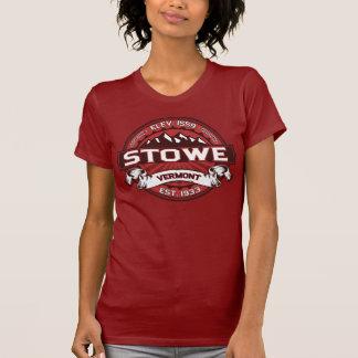 Röd Stowe logotyp Tee Shirts