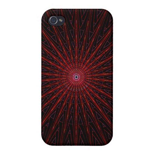 Röd svart energiwebben iPhone 4 fodraler
