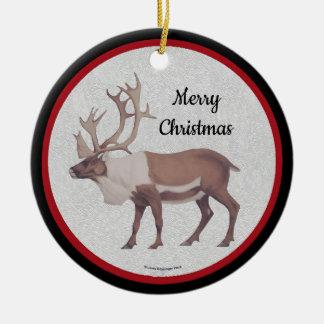 Röd svart gräns för Caribouren Julgransprydnad Keramik