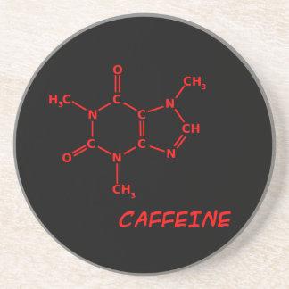 Röd & svart koffeinmolekylkustfartyg underlägg