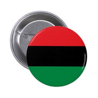 Röd svart- och gröntPanorera-Afrikan UNIA flagga Standard Knapp Rund 5.7 Cm