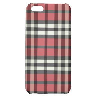 Röd/svart pläd Pern iPhone 5C Mobil Fodral