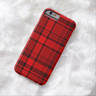 Röd svart plädTartan Barely There iPhone 6 Skal