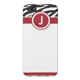 Röd/svart sebra för funky 4 iPhone 5 cover