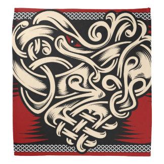 Röd svart vit för Celtic hjärta Scarf