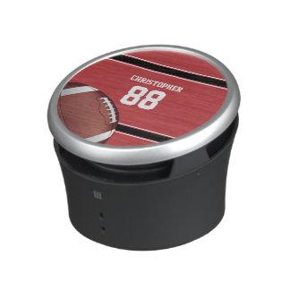 Röd svartvit randfotboll Jersey Högtalare