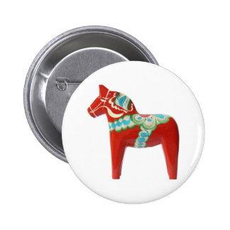 Röd svensk Dala häst Pins