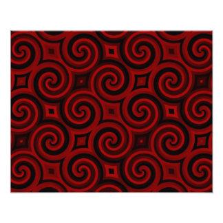 Röd Swirly för vintage struktur Foton