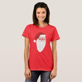 Röd T-tröja för hand plockadeSanta | jul Tee Shirts