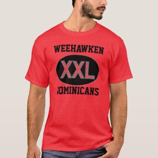 Röd T-tröja för Weehawken dominikaner T-shirts