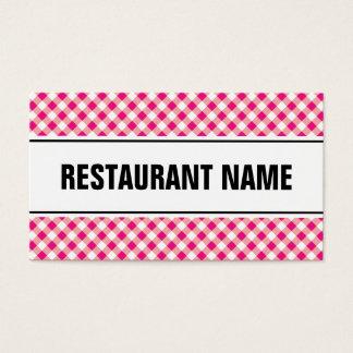 Röd tablecloth för restaurangvisitkortmall | visitkort