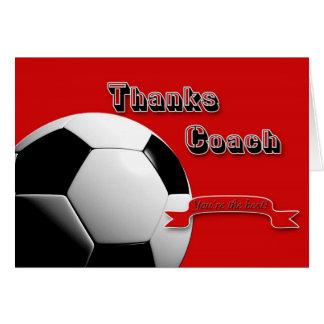 Röd tackfotbolllagledare hälsningskort
