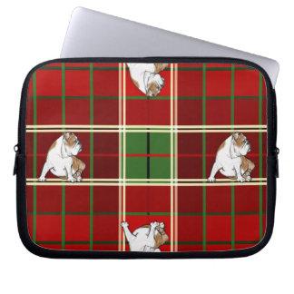 Röd Tartanbulldogg Laptop Fodral