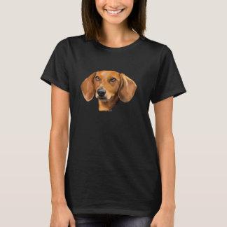Röd taxhund t-shirts