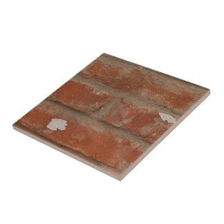 Röd tegelsten för vintage och gråttmortel kakelplatta