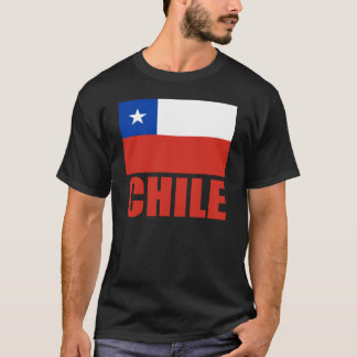Röd text för Chile flagga T-shirts