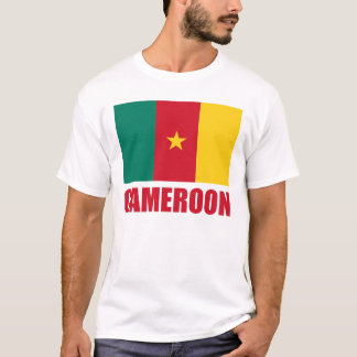 Röd text för Kamerunflagga Tshirts