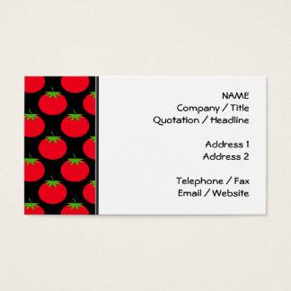 Röd tomatmodell visitkort