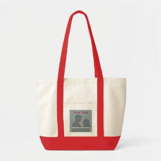 Röd toto för impuls din foto- & textmall tygkassar